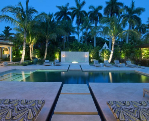 Design Lighting Exterior Mediterranean Pool